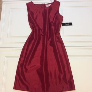 Sz 18 LeSuit Red Lined Suit Dress NWT